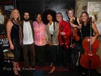 Members of Esperanza Spalding's Chamber Music Ensemble (from l-r): Leala Cyr, Leo Genovese, Terri Lyne Carrington, Esperanza Spalding, Lois Martin, Sara Caswell, & Jody Redhage
