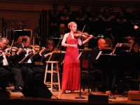 "Sara performing Stephen Flaherty's ""Sparks and Smoke: The Clermont"" with the New York Pops"